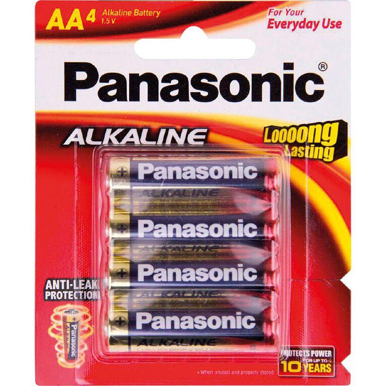 Panasonic AA Size Alkaline Batteries 4 Pack, , hi-res