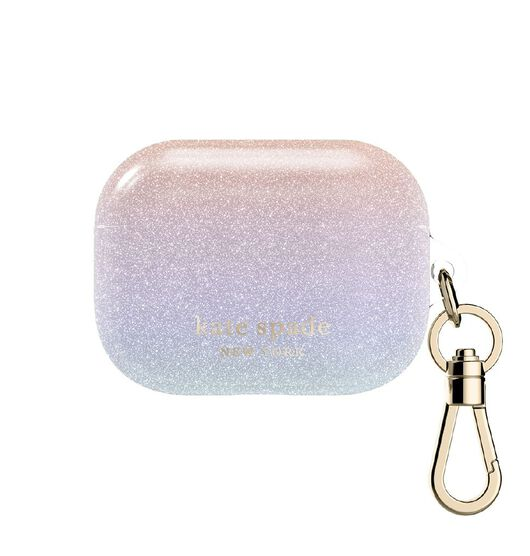Kate Spade Airpods Pro Case - Ombre Glitter Pink