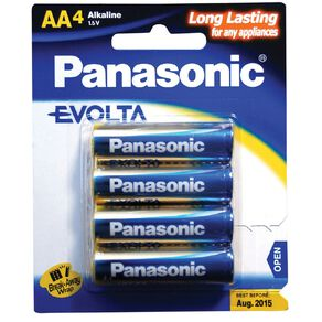 Panasonic Evolta AA Size Batteries 4 Pack