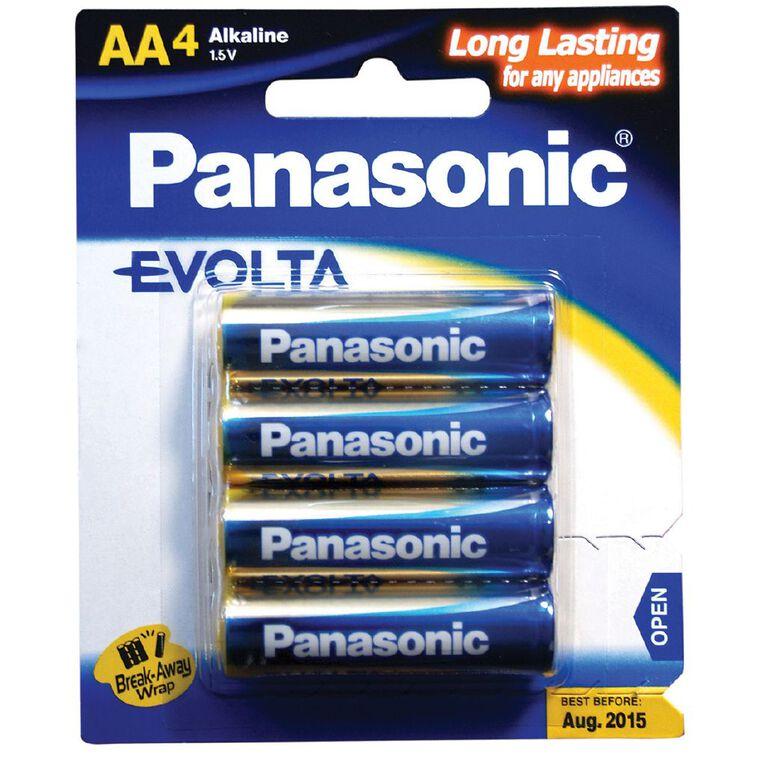 Panasonic Evolta AA Size Batteries 4 Pack, , hi-res
