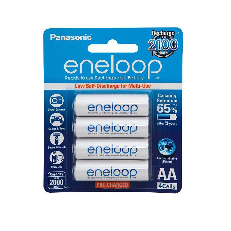 Panasonic Eneloop AA Size Rechargeable Batteries 4 Pack, , hi-res