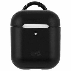 Casemate AirPods Hook Ups Case & Neck Strap - Leather - Black/Black