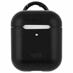 Casemate AirPods Hook Ups Case & Neck Strap - Leather - Black/Black