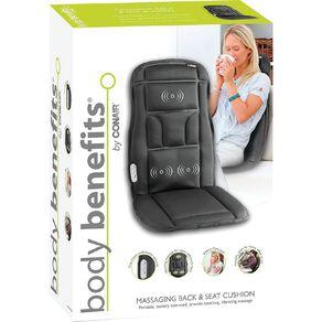 Body Benefits Massaging Back & Seat Cushion