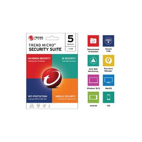 Trend Micro Security Suite 5 Device 12 Month