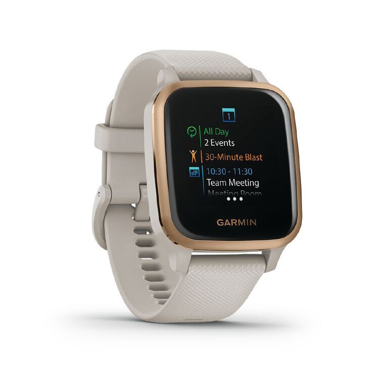 Garmin Venu SQ Smartwatch Light Sand/Rose Gold - Music Edition, , hi-res