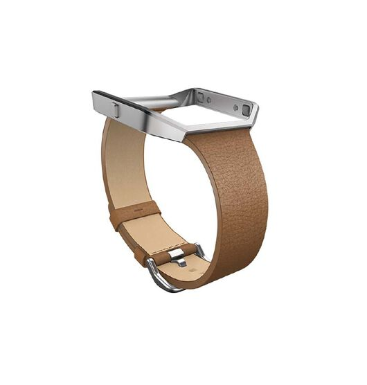 Fitbit Blaze Accessory Tapered Leather Band, Camel Small