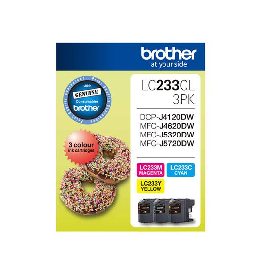 Brother LC233CL3PK Tri-Colour Pack