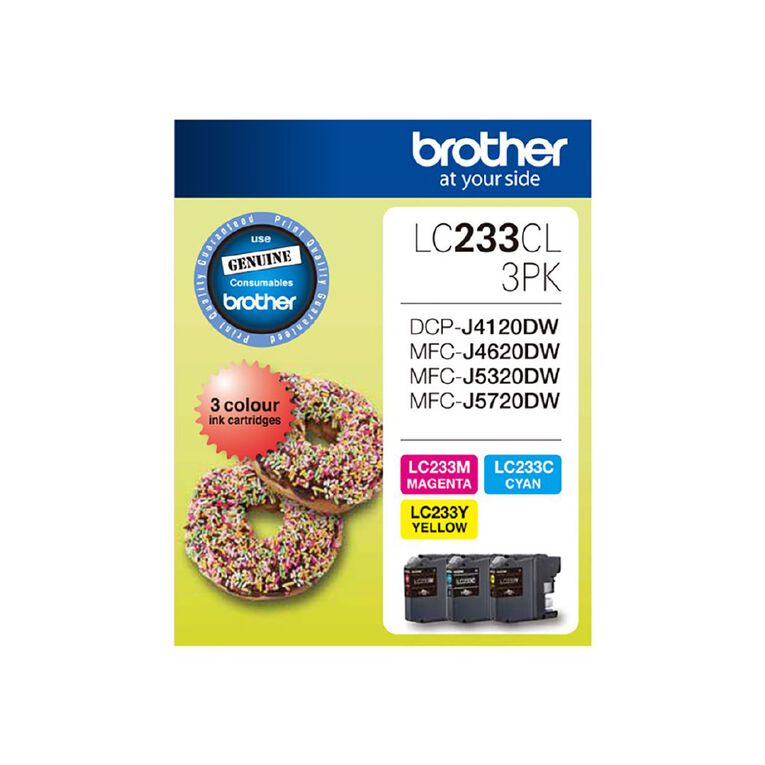 Brother LC233CL3PK Tri-Colour Pack, , hi-res