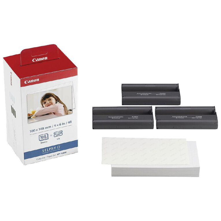 CANON RP108 Selphy Postcard Photo Paper & Ink Pack  (108 Prints), , hi-res