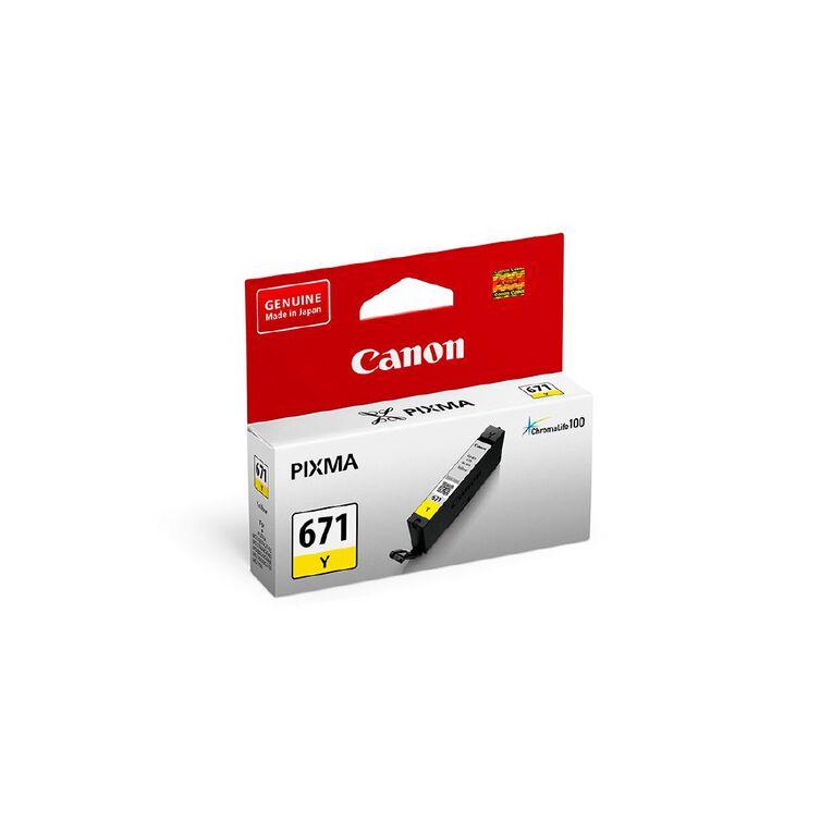 Canon CLI-671Y Ink - Yellow, , hi-res