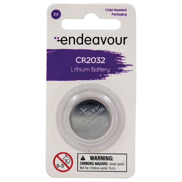 Endeavour CR2032 Lithium Button Battery, , hi-res