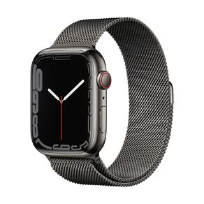 Apple Watch Series 7 Cellular, 45mm Graphite Stainless Steel Case with Graphite Milanese Loop