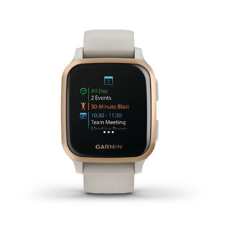 Image of Garmin Venu SQ Smartwatch Light Sand/Rose Gold - Music Edition