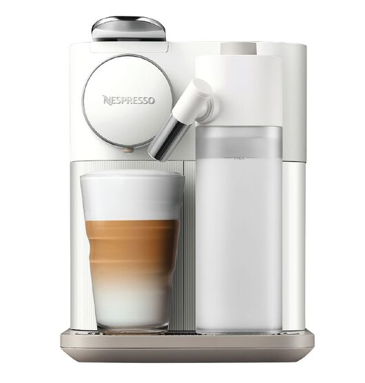 Nespresso Delonghi Gran Lattissima Coffee Machine, Sunset White