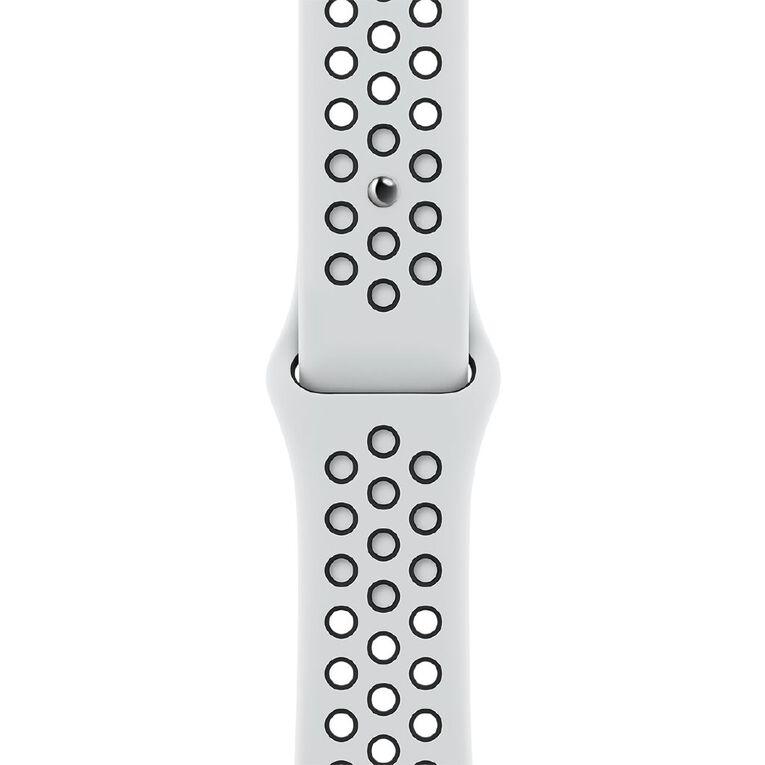 Apple 41mm Pure Platinum/Black Nike Sport Band - Regular, , hi-res