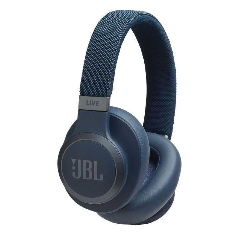 Image of JBL Live 650BTNC Wireless Noise Cancelling Over-Ear Headphones - Blue
