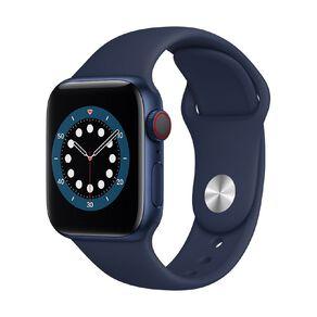 Apple Watch S6 CEL, 40mm Blue Alum Case w Deep Navy Sport Bd - Rglr