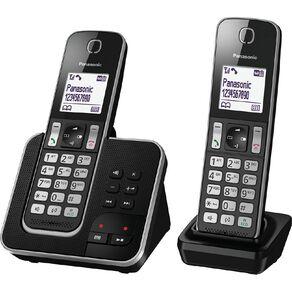 Panasonic KX-TGD322NZB Twin Cordless Phone Pack