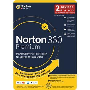 Norton 360 Premium 100GB 2 Device 12 Month Subscription