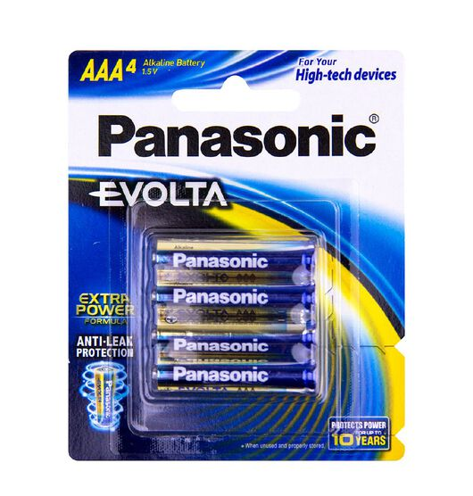Panasonic Evolta AAA Size Batteries 4 Pack