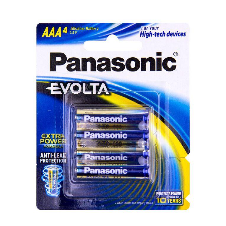 Panasonic Evolta AAA Size Batteries 4 Pack, , hi-res