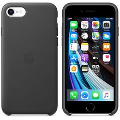 Apple iPhone SE 2020 Leather Case - Black