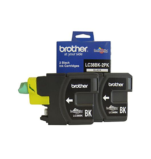 Brother LC38BK Ink - Black Twin Pack