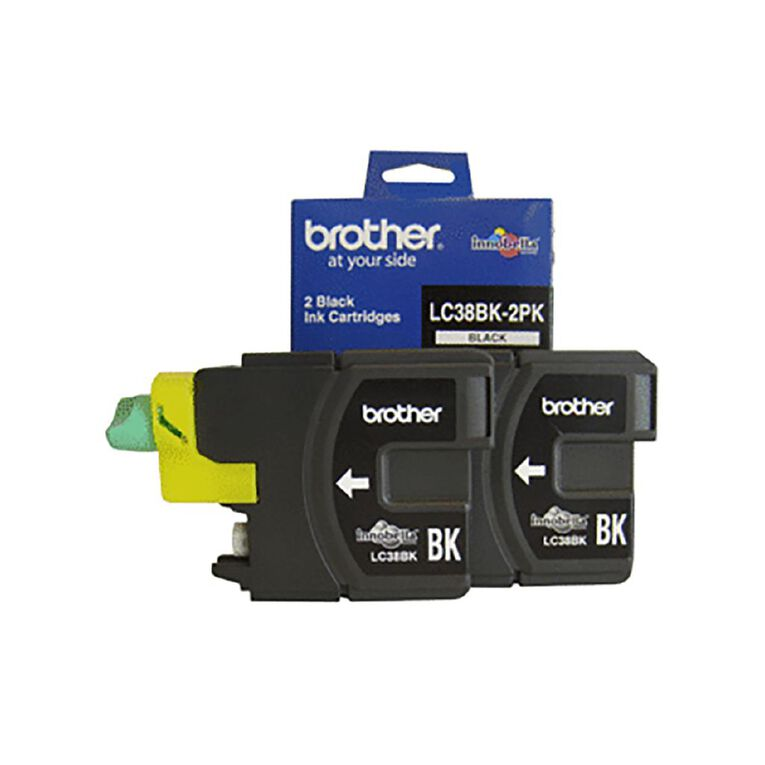 Brother LC38BK Ink - Black Twin Pack, , hi-res
