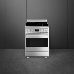 SMEG Freestanding 60cm Stainless Steel Pyrolytic Cooker with MultiZone Induction Cooktop