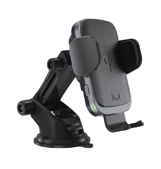 Moyork 15W Mechanical Qi Charging Car Mount - Raven Black