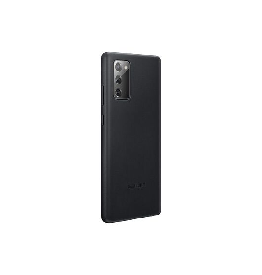 Samsung Note 20 Leather Cover - Black