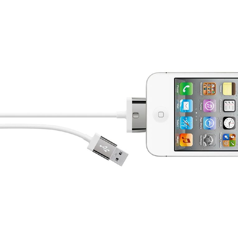 Belkin MIXITUP 30-Pin to USB Cable 1.2m White, , hi-res
