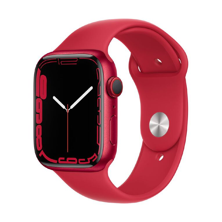 Apple Watch Series 7 Cellular, 45mm (PRODUCT)RED Aluminium Case with (PRODUCT)RED Sport Band - Regular, , hi-res