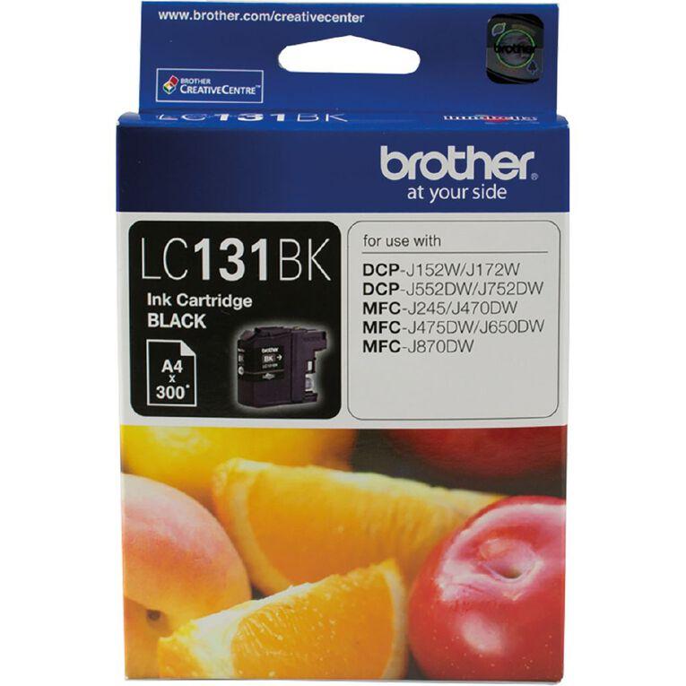 Brother LC131BK Ink - Black, , hi-res