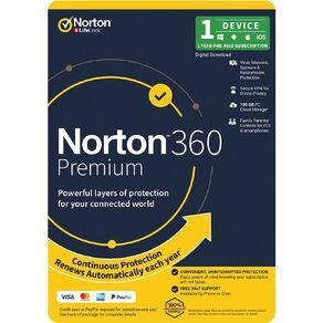 Norton 360 Premium 100GB 1 Device 12 Month Subscription