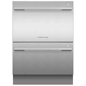 Fisher & Paykel 14 Place Setting Double DishDrawer - Stainless Steel