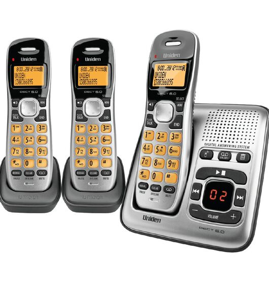 Uniden DECT1735+2 Digital DECT Cordless phone with Answer Machine Triple