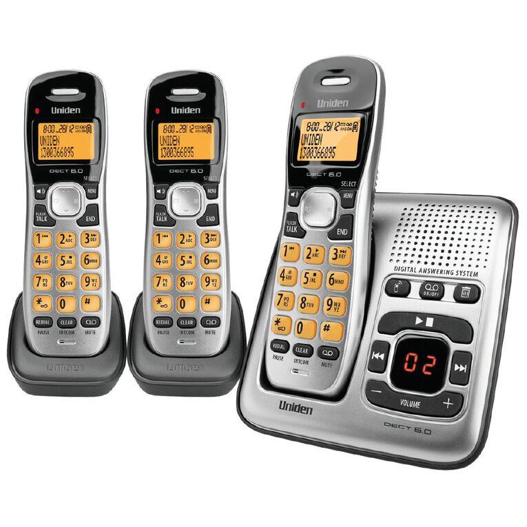 Uniden DECT1735+2 Digital DECT Cordless phone with Answer Machine Triple, , hi-res