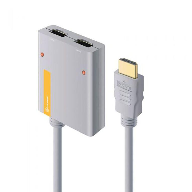 ALOGIC 2 Port Portable HDMI 2.0 4K Splitter with In-built 50cm HDMI, , hi-res