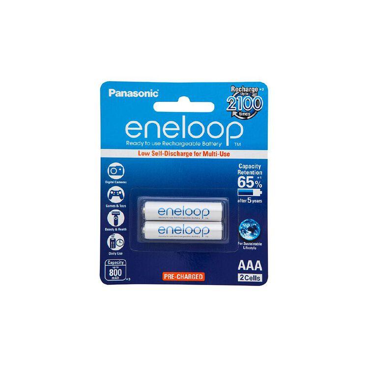 Panasonic Eneloop AAA Size Rechargeable Batteries 2 Pack, , hi-res