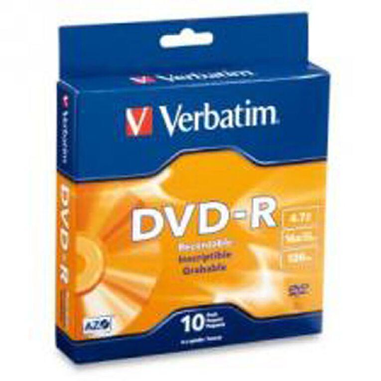 Verbatim DVD-R 16x 4.7GB 10 Pack, , hi-res