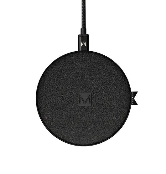 Moyork Wireless Charger - Raven Black Leather