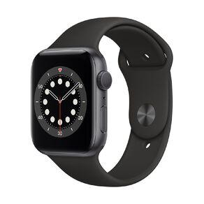 Apple Watch Series 6 44mm GPS Space Grey Aluminium Case with Black Sport Band