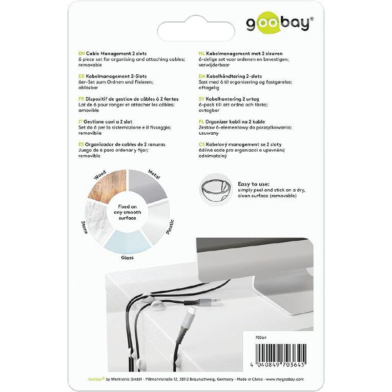 Goobay Cable Management  Mini 2 Slot Set - White, , hi-res