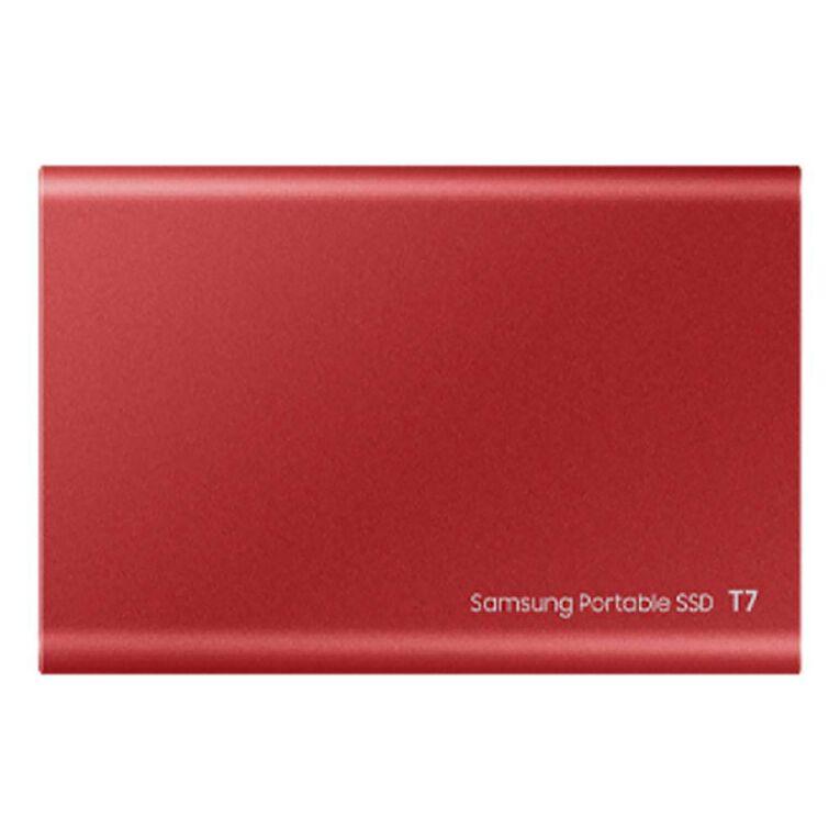 Samsung T7 Portable SSD - 1TB Metallic Red, , hi-res