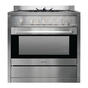 Parmco 90cm Freestanding Gas Oven w/ Gas Cooktop - Stainless Steel