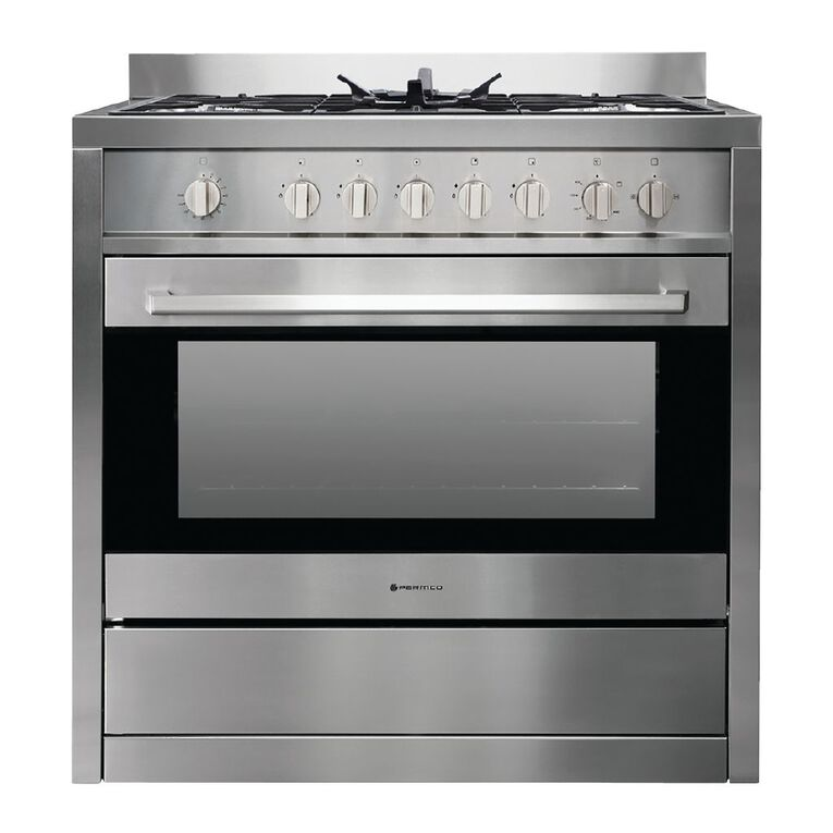 Parmco 90cm Freestanding Gas Oven w/ Gas Cooktop - Stainless Steel, , hi-res
