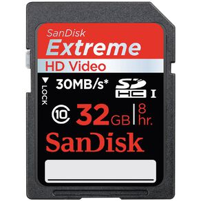 Sandisk Extreme 32GB HD SD Card
