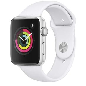 Apple Watch Series3 GPS, 42mm Silver Aluminium Case with White SB